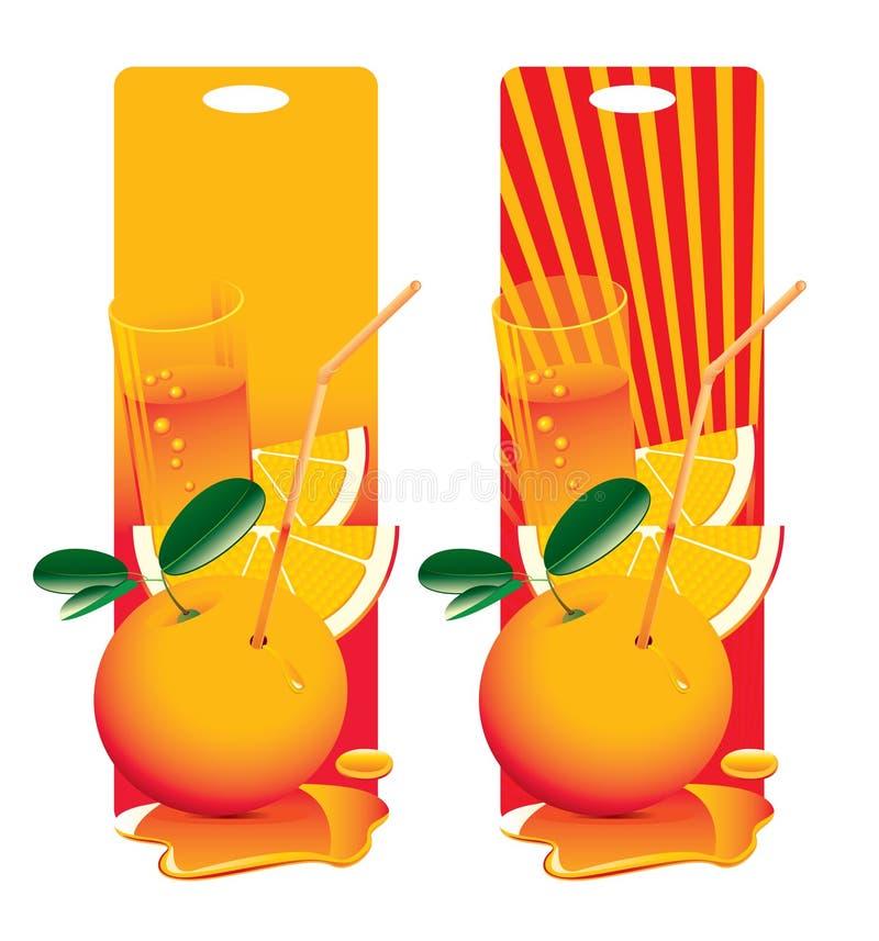 φρέσκο πορτοκάλι διανυσματική απεικόνιση