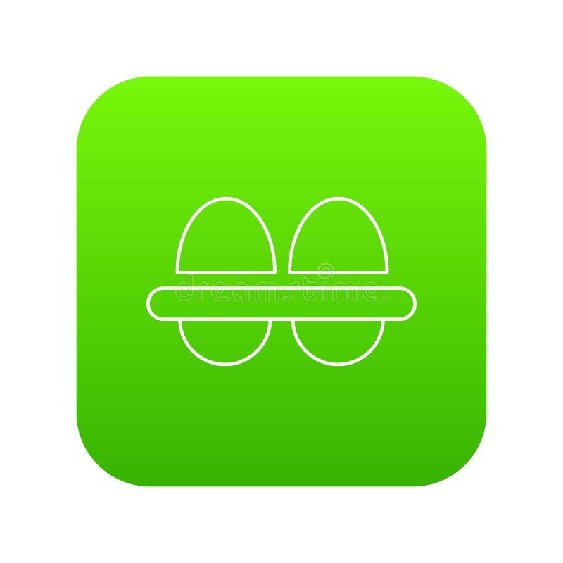 Φρέσκο πράσινο διάνυσμα εικονιδίων αυγών απεικόνιση αποθεμάτων