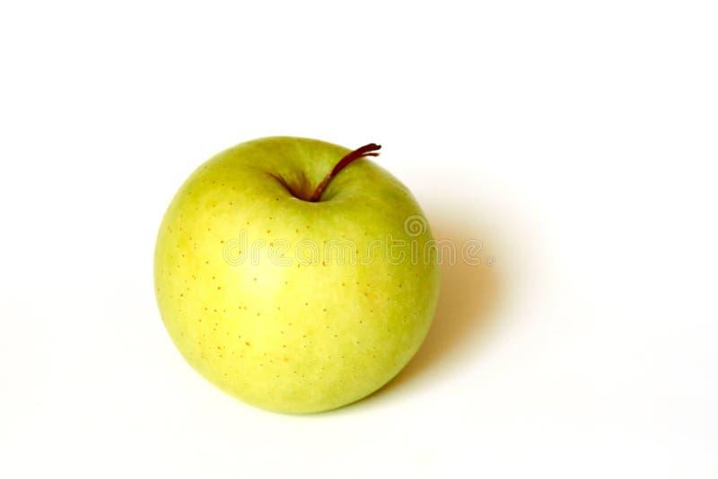 Φρέσκο πράσινο μήλο που απομονώνεται στοκ εικόνα