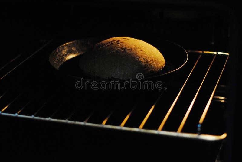 Φρέσκο σπιτικό ψωμί στο φούρνο στοκ φωτογραφίες
