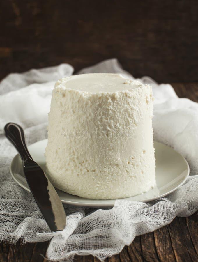 Φρέσκο τυρί ricotta στοκ εικόνα