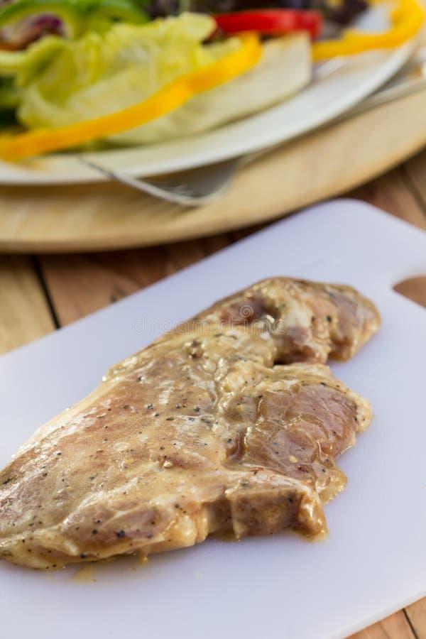 Φρέσκο χοιρινό κρέας. στοκ εικόνες με δικαίωμα ελεύθερης χρήσης