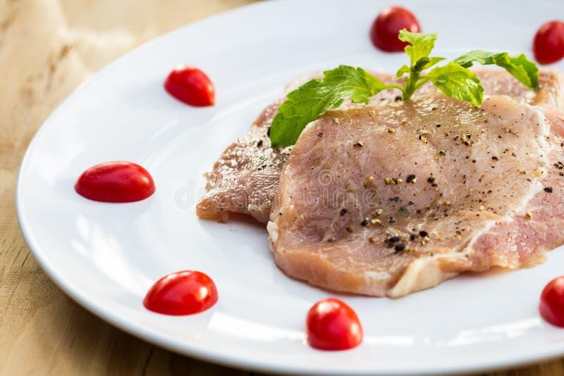 Φρέσκο χοιρινό κρέας. στοκ φωτογραφία με δικαίωμα ελεύθερης χρήσης