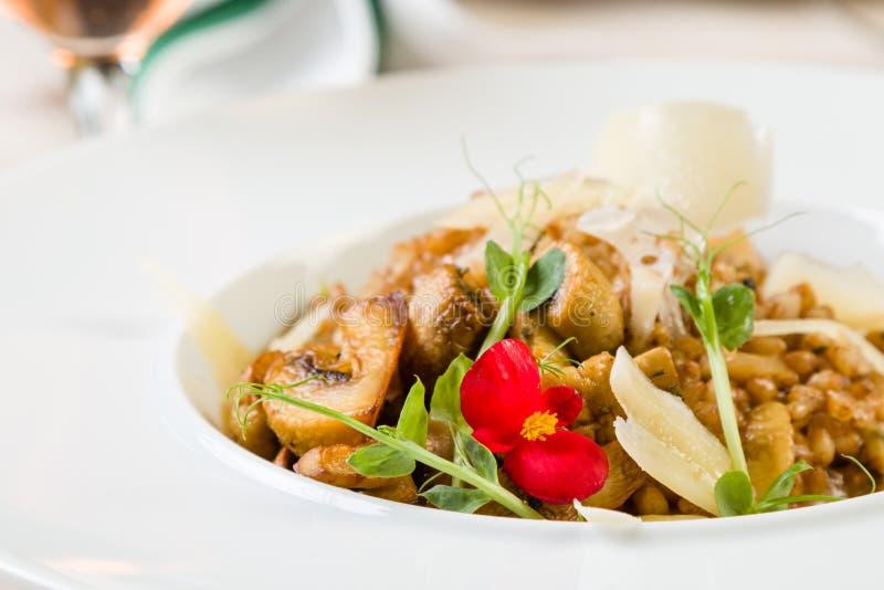 Φρέσκο risotto κριθαριού στοκ εικόνα