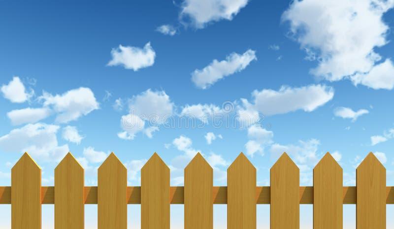 Φραγή και μπλε ουρανός ελεύθερη απεικόνιση δικαιώματος
