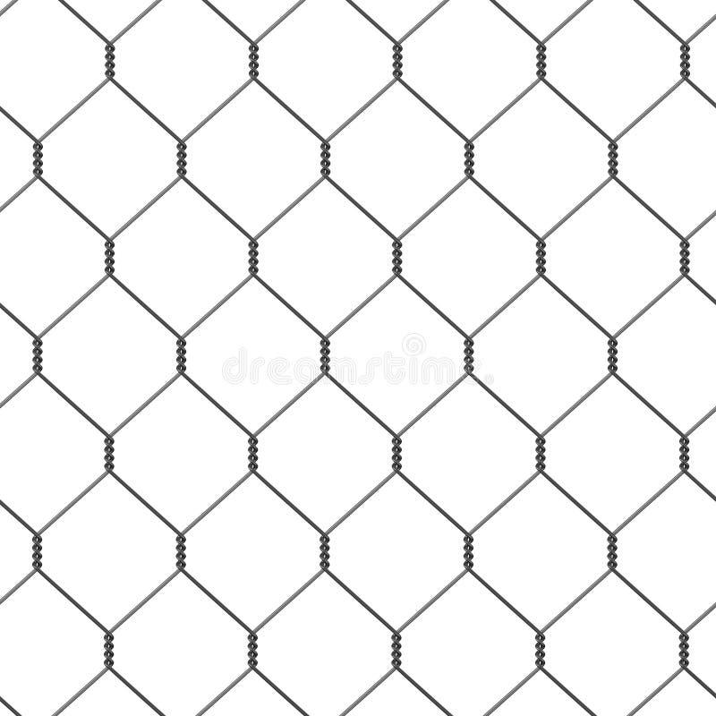 Φραγή καλωδίων - tileable διανυσματική απεικόνιση