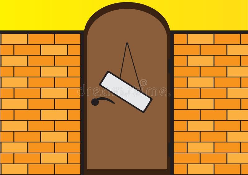 φραγή πορτών ελεύθερη απεικόνιση δικαιώματος