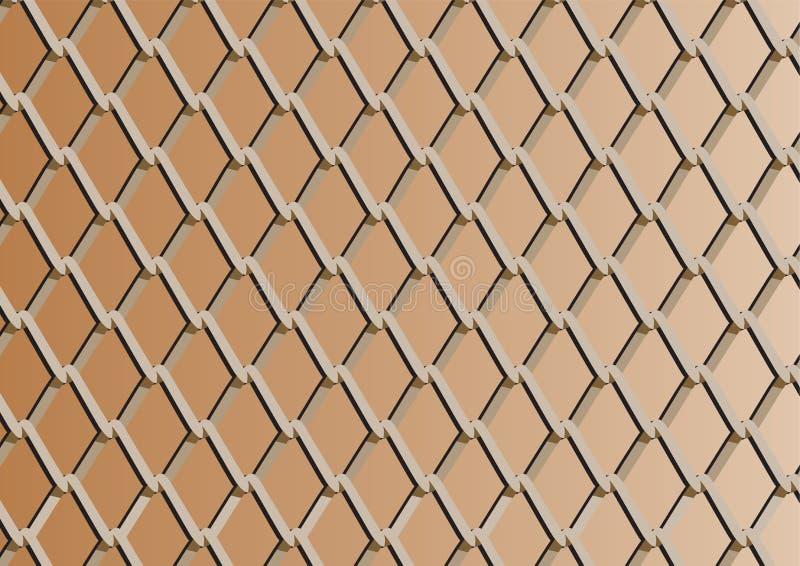 Φραγή συνδέσεων αλυσίδων με την ανασκόπηση χαλκού ελεύθερη απεικόνιση δικαιώματος