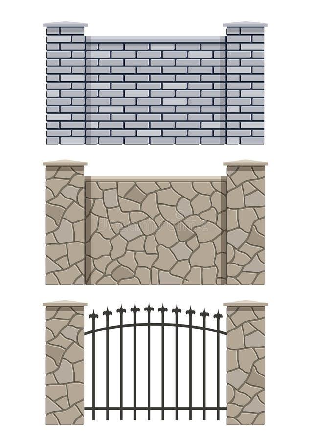 Φραγή τούβλου και πετρών ελεύθερη απεικόνιση δικαιώματος