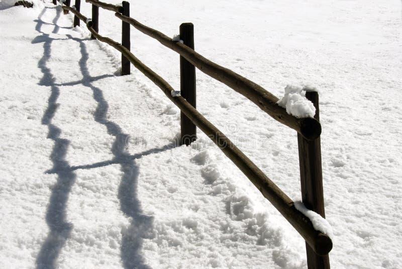 φραγή χιονώδης στοκ εικόνες