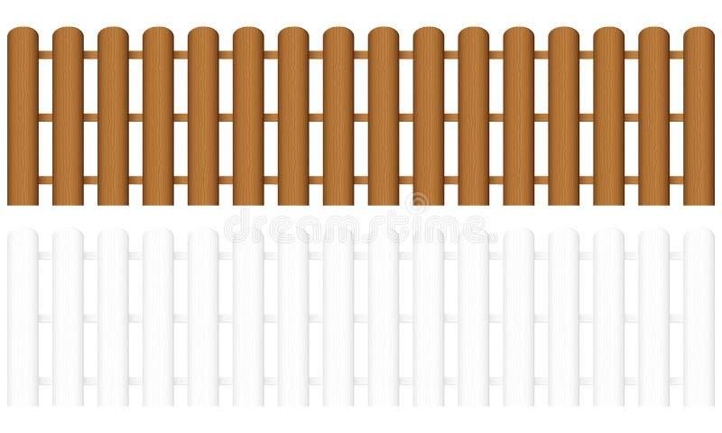 φραγή 3 ξύλινη διανυσματική απεικόνιση