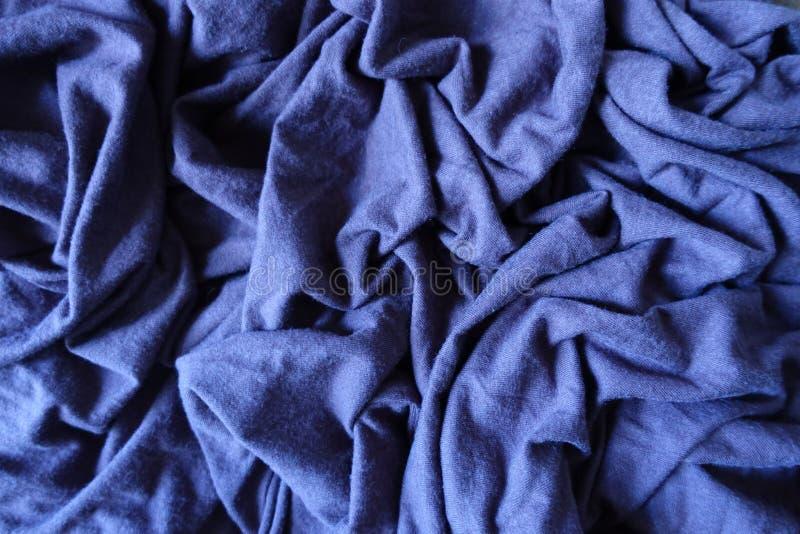 Φραγμένο κατακτημένο μπλε απλό παχύ ύφασμα stockinet στοκ εικόνες με δικαίωμα ελεύθερης χρήσης