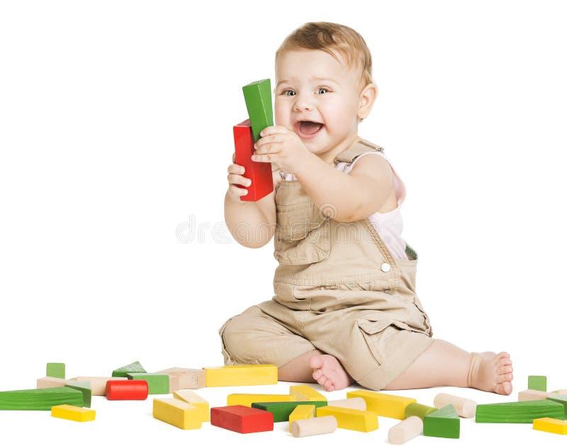 Φραγμοί παιχνιδιών παιχνιδιού παιδιών, παιχνίδι παιχνιδιού παιδιών στο λευκό στοκ εικόνα