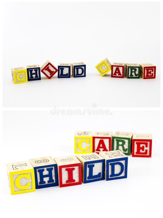 Φραγμοί φροντίδας των παιδιών Abc που απομονώνονται στοκ εικόνα με δικαίωμα ελεύθερης χρήσης