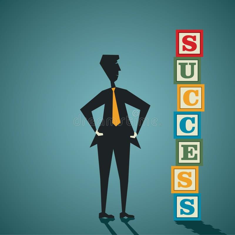 Φραγμός λέξης επιτυχίας διανυσματική απεικόνιση