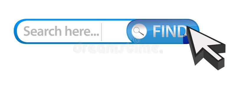 Φραγμός αναζήτησης Διαδικτύου απεικόνιση αποθεμάτων