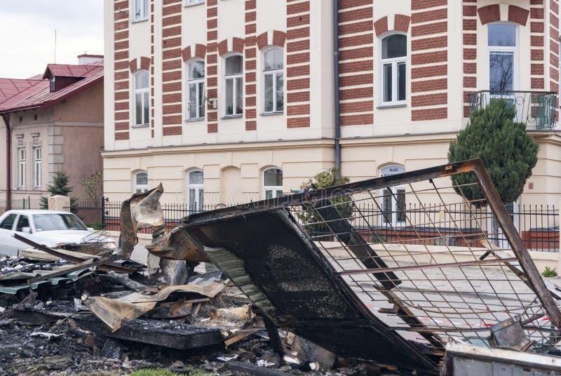 Φραγμός καταστροφών στοκ φωτογραφία με δικαίωμα ελεύθερης χρήσης