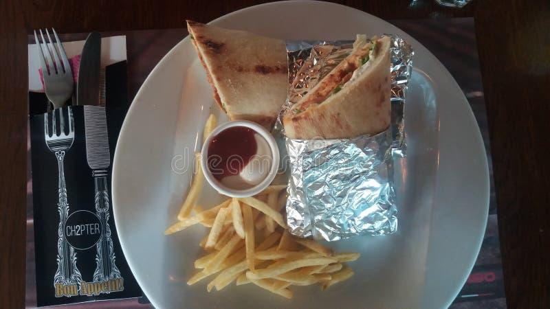 Φραγμός μεσημεριανού γεύματος bruklin Burito skopje στοκ φωτογραφία με δικαίωμα ελεύθερης χρήσης