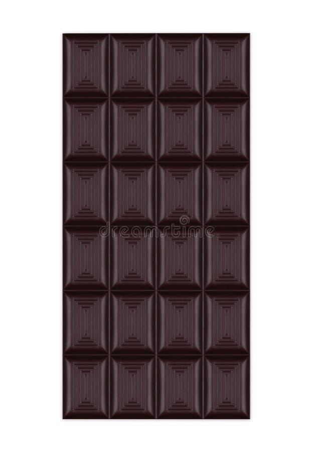 Φραγμός της σκοτεινής οργανικής γλυκιάς σοκολάτας που απομονώνεται στοκ φωτογραφίες με δικαίωμα ελεύθερης χρήσης