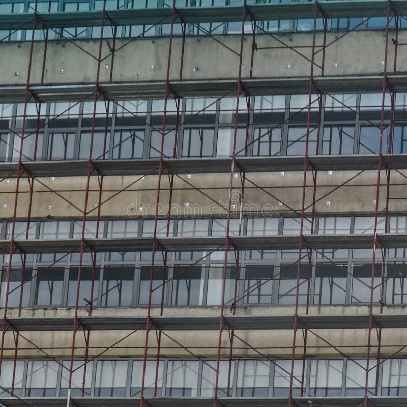 Φραγμός των επιπέδων στην κατασκευή στοκ φωτογραφίες