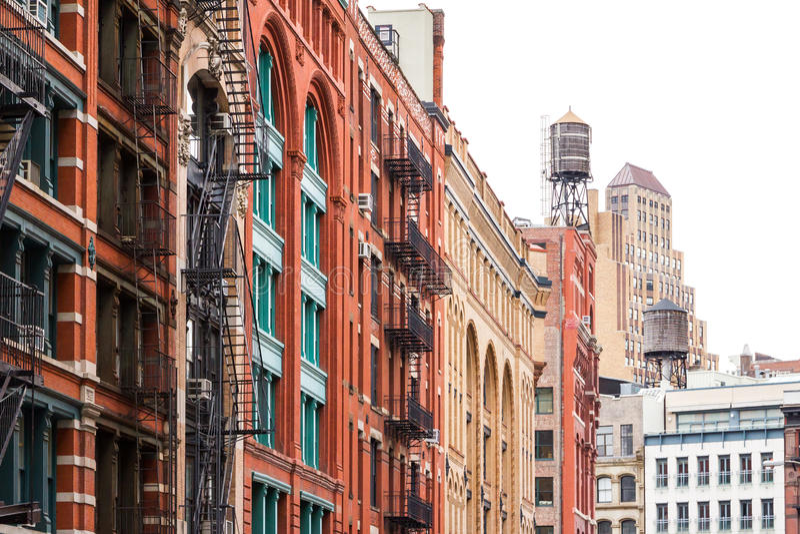 Φραγμός των κτηρίων σε Soho Μανχάταν, πόλη της Νέας Υόρκης στοκ εικόνες
