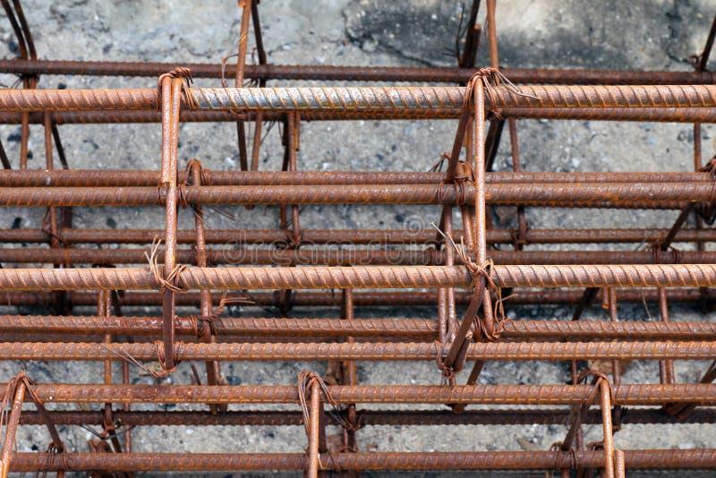 Φραγμός χάλυβα, Rebar για την κατασκευή, σκουριά στο χαλύβδινο σύρμα, σκουριά φραγμών χάλυβα, χάλυβας καλωδίων, Rebar σκουριά στοκ φωτογραφία