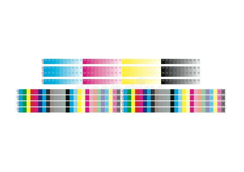 Φραγμός χρώματος CMYK για την προετοιμασία δημοσιεύσεων διανυσματική απεικόνιση