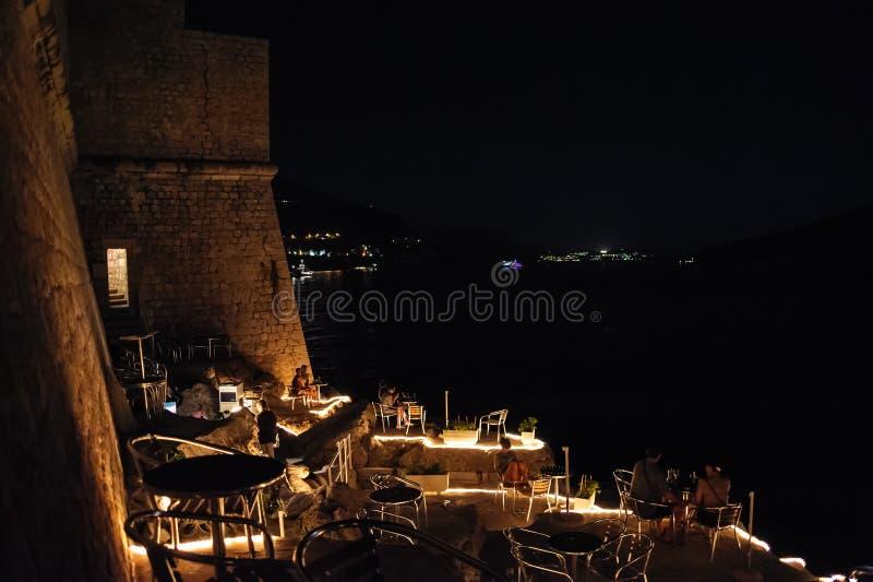 Φραγμός Dubrovnik τη νύχτα στοκ φωτογραφίες με δικαίωμα ελεύθερης χρήσης