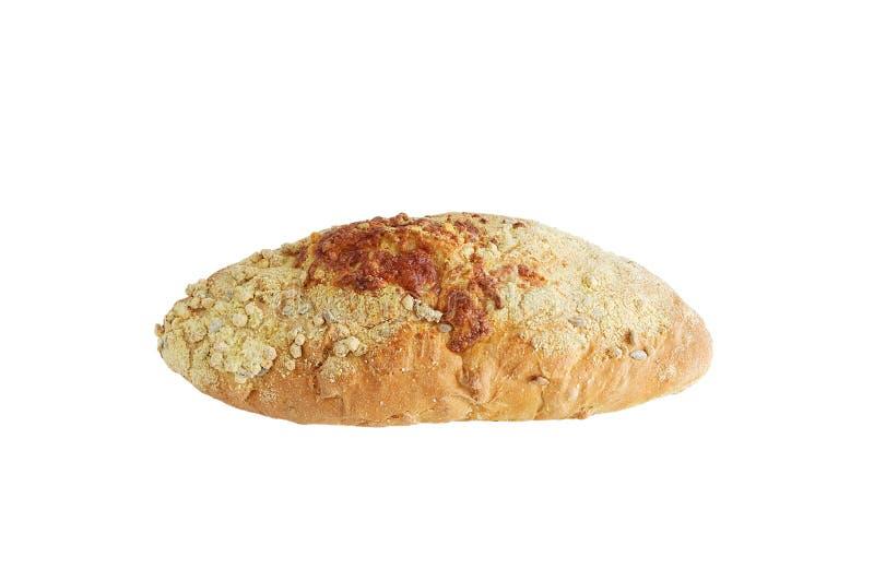 Φραντζόλα του ψωμιού με τους σπόρους Άσπρος απομονώστε στοκ εικόνα με δικαίωμα ελεύθερης χρήσης
