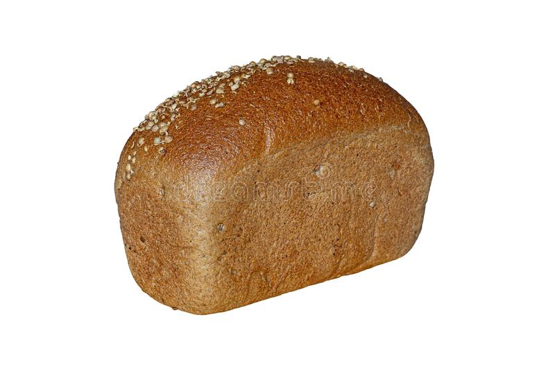 Φραντζόλα του ψωμιού με το κορίανδρο που απομονώνεται στο άσπρο υπόβαθρο στοκ εικόνες