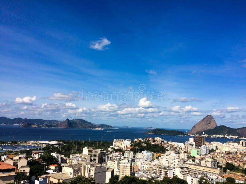 Φραντζόλα ζάχαρης άποψης του Ρίο στοκ φωτογραφία με δικαίωμα ελεύθερης χρήσης