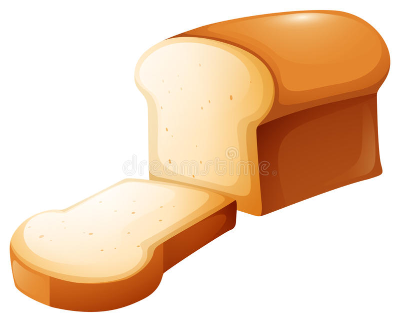 Φραντζόλα του ψωμιού και της ενιαίας φέτας διανυσματική απεικόνιση