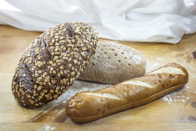 φραντζόλες τρία ψωμιού στοκ φωτογραφίες με δικαίωμα ελεύθερης χρήσης