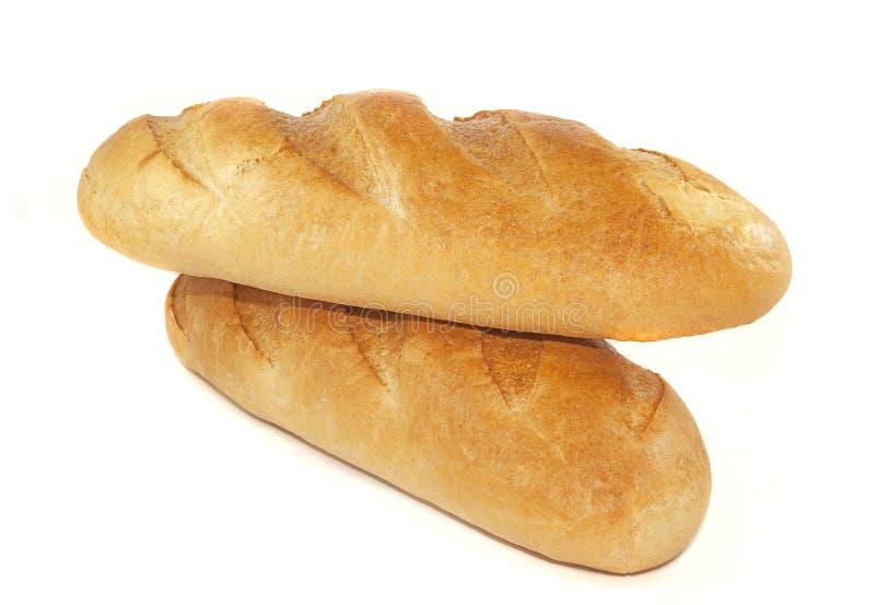 φραντζόλες δύο ψωμιού στοκ φωτογραφία