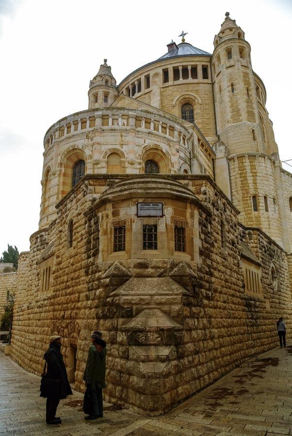 Φραντσησθανό μοναστήρι του dormition στο υποστήριγμα Zion στην Ιερουσαλήμ, Ισραήλ στοκ φωτογραφίες