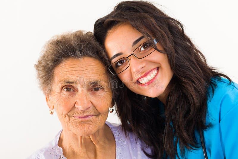 Φροντίζοντας οικογενειακό μέλος στοκ εικόνες με δικαίωμα ελεύθερης χρήσης