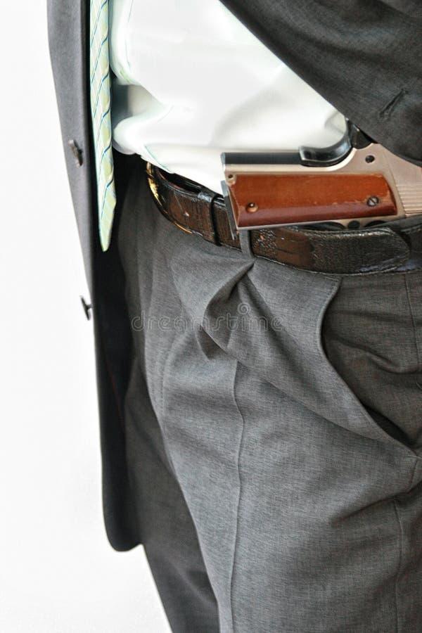Φρουρά ασφάλειας με το πιστόλι στοκ φωτογραφίες