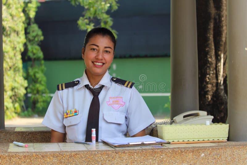 Φρουρά ασφάλειας - θηλυκό στοκ φωτογραφία