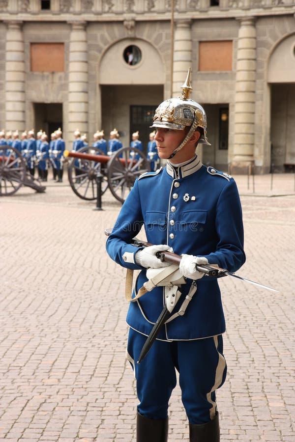 φρουρά βασιλική Στοκχόλμ στοκ εικόνα με δικαίωμα ελεύθερης χρήσης