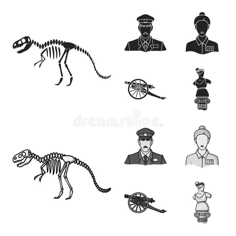 Φρουρά, οδηγός, άγαλμα, πυροβόλο όπλο E διανυσματική απεικόνιση
