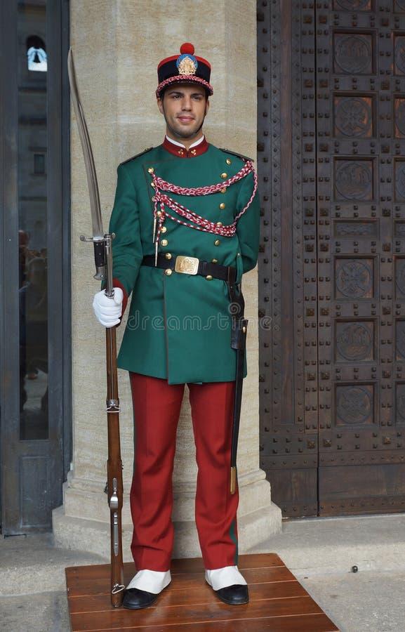 Φρουρά της Δημοκρατίας του Άγιου Μαρίνου, Ευρώπη στοκ φωτογραφία με δικαίωμα ελεύθερης χρήσης