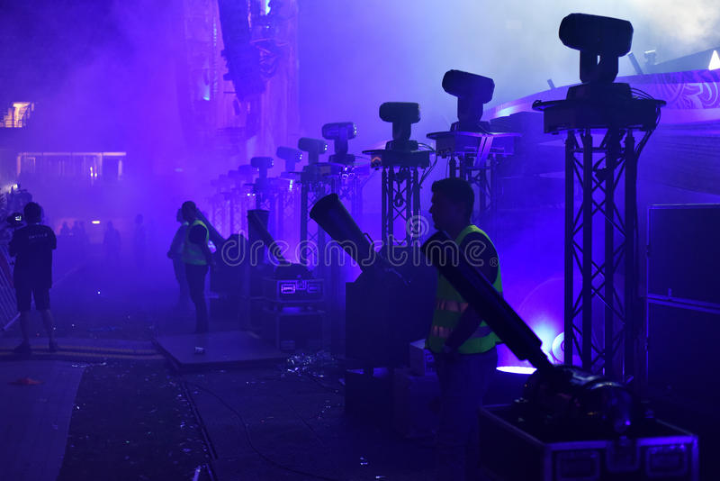 Φρουρές και διαχειριστές ασφάλειας σε μια συναυλία στοκ φωτογραφίες με δικαίωμα ελεύθερης χρήσης