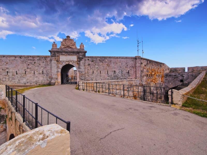 Φρούριο Λα Mola σε Mahon σε Minorca στοκ εικόνες