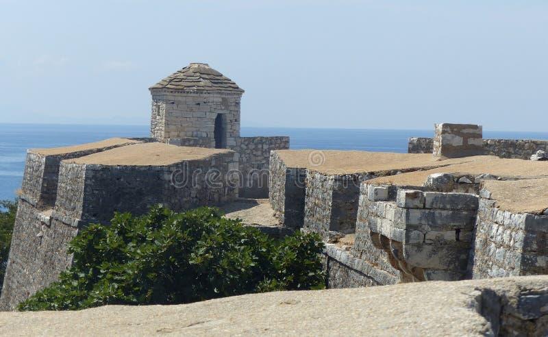 Φρούριο του πασά Tepelena του Ali στο Πόρτο Παλέρμο, στη θάλασσα, στη νότια Αλβανία στοκ εικόνες