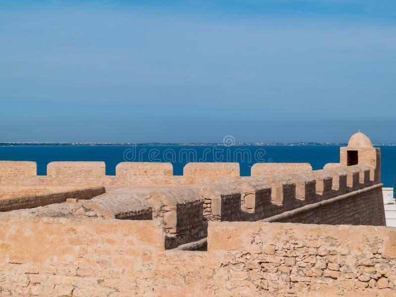 Φρούριο Borj EL-Kebir Οθωμανός, Mahdia, Τυνησία στοκ φωτογραφίες