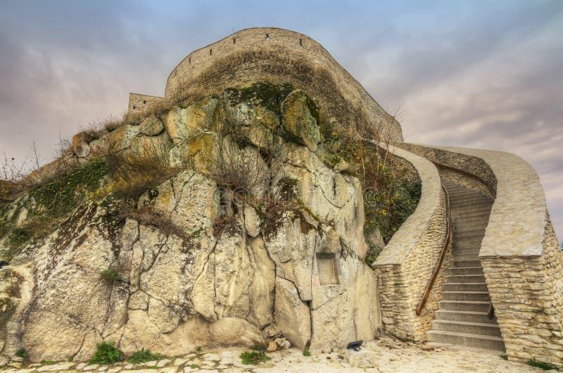 Φρούριο Deva στην Ευρώπη, Ρουμανία στοκ εικόνες