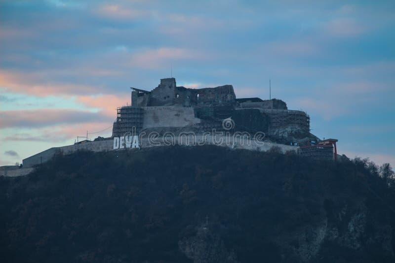 Φρούριο Deva στοκ εικόνες