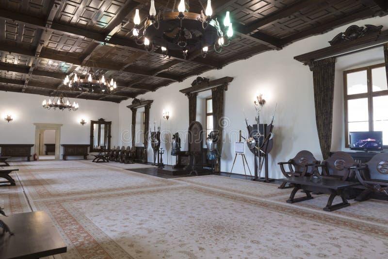 Φρούριο Fagaras - το δωμάτιο θρόνων στοκ εικόνες