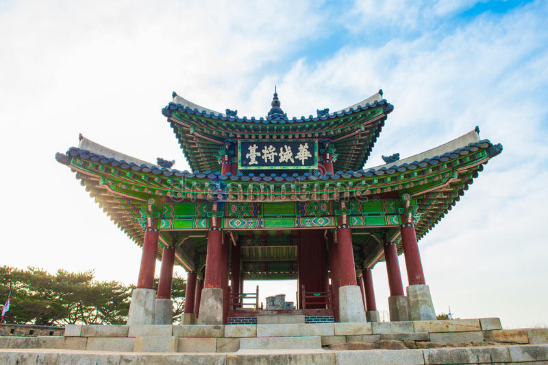 Φρούριο Hwaseong σε Suwon, διάσημο στην Κορέα στοκ φωτογραφίες