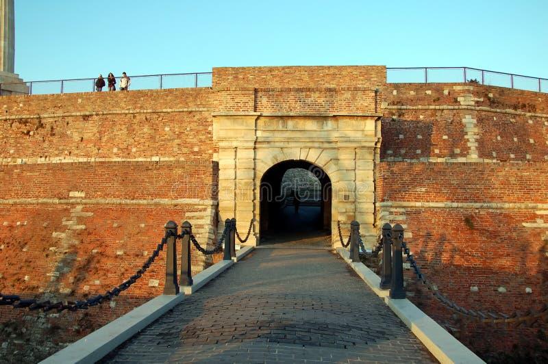 Φρούριο Kalemegdan, Beldrad, Σερβία στοκ εικόνα